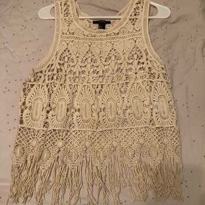 3 for $12 Forever 21 Crochet Cropped Tank